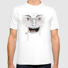 Psycho White SMALL Mens Fitted Tee