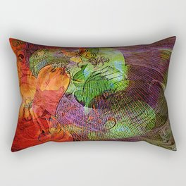 When I dream about you,  It is to put of the color in my life. Rectangular Pillow
