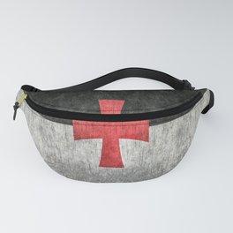 Knights Templar Flag in Super Grunge Fanny Pack