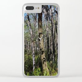 Pockets of Shadows Clear iPhone Case