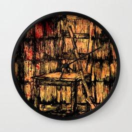 Full metal chair Wall Clock