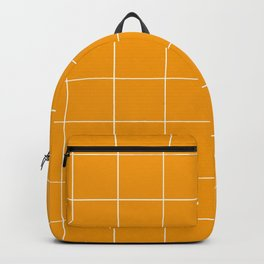 Graph Paper (White & Orange Pattern) Backpack