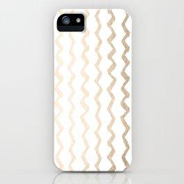 Golden Zigzag iPhone Case