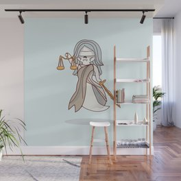Ghostly Lady Justice Wall Mural