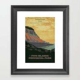 Five Islands Provincial Park Poster Framed Art Print