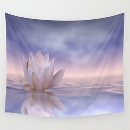 the lonely water lily Wall Tapestry