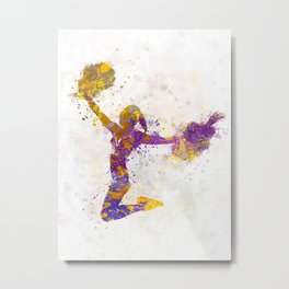 young woman cheerleader 03 Metal Print