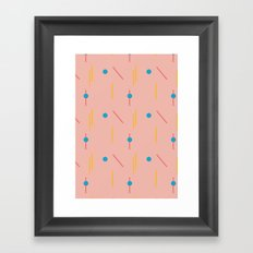 on course (pink) Framed Art Print