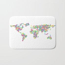 Tetris world (white one) Bath Mat