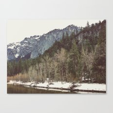 Merced River Layers Canvas Print