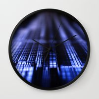 wiz khalifa Wall Clocks featuring Dubai - Burj Al Khalifa Blueprint by gdesai