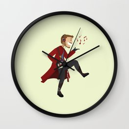 Dancing Quill Wall Clock