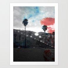 ROSSO/BLU in L.A. Art Print