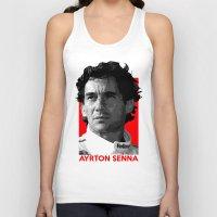 senna Tank Tops featuring Formula One - Ayrton Senna by Vehicle