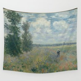 Claude Monet - Poppy Fields near Argenteuil (1875) Wall Tapestry