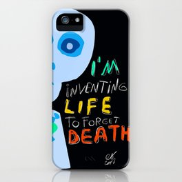 Street Art Graffiti Inventing Life iPhone Case