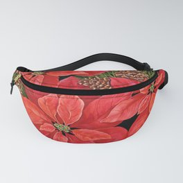 Christmas Poinsettia Fanny Pack