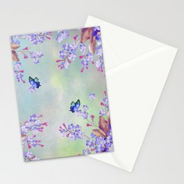 lilac, Purple, Burgundy, mix Turquoise Stationery Cards