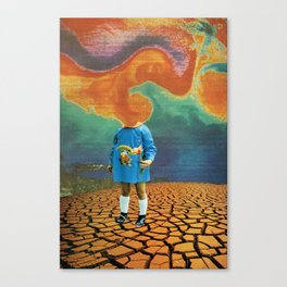 it will be a dry world Canvas Print
