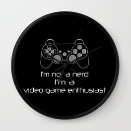 Video Game Enthusiast Wall Clock