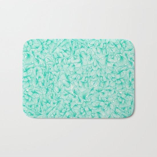 Knee-Deep in Turquoise Ink Bath Mat