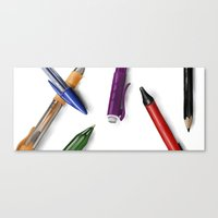 write Canvas Prints featuring Write by Mannj