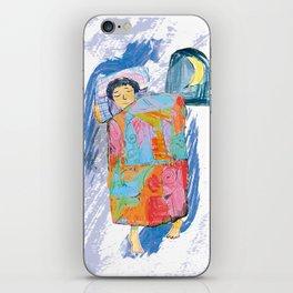 Sleeping and dreaming illustration, design for children iPhone Skin