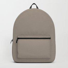 Best Seller Dark Beige Brown Solid Color Parable to Benjamin Moores Waynesboro Taupe 1544 Hue Colour Backpack