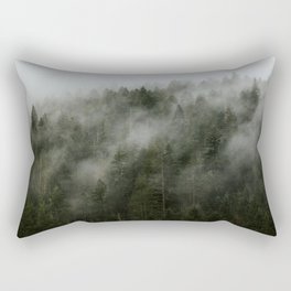 Pacific Northwest Foggy Forest Rectangular Pillow