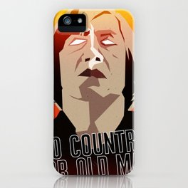 No Country For Old Man Poster iPhone Case