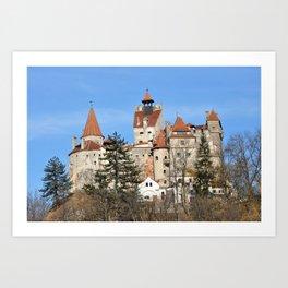 dracula bran castle romania history landmark architecture Art Print