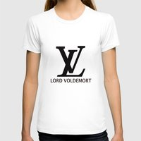 lv T-shirts featuring LV Lord Voldemort  by A Fuckin' Teenage Tragedy