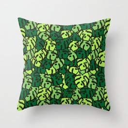 Monstera Deliciosa Throw Pillow