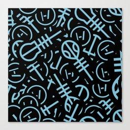 TØP Stickers - Original Logo Blue Canvas Print