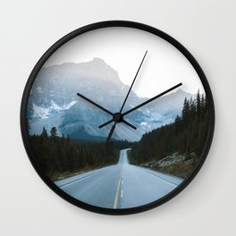 Icefields Parkway Sunset Wall Clock