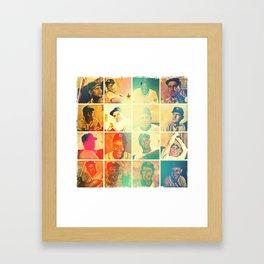 Bowman card collage Framed Art Print