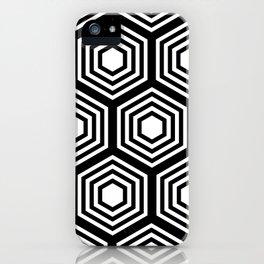 Monochrome Hex iPhone Case