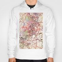 austin Hoodies featuring Austin by MapMapMaps.Watercolors