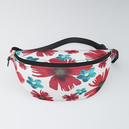 Carnations & Columbines Fanny Pack