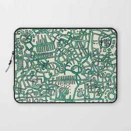 Begin/End Series in Green Laptop Sleeve