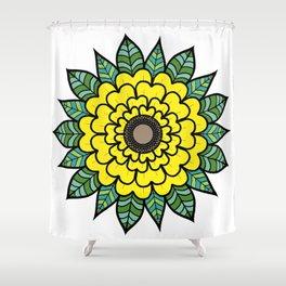 Sun of the Flower Sunflower Shower Curtain