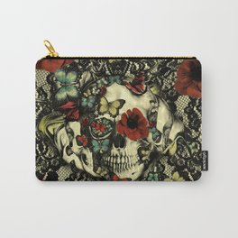 Vintage Gothic Lace Skull Carry-All Pouch