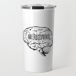 GRATITUDE Brain Travel Mug