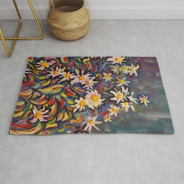 Mom's White Daisies Rug