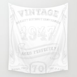 Vintage-1947---70th-Birthday-Gift-Idea Wall Tapestry