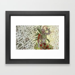 """""""only good vibes"""" anatomical collage art by bedelgeuse Framed Art Print"""