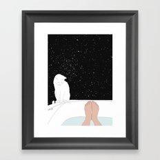 stars bath  Framed Art Print