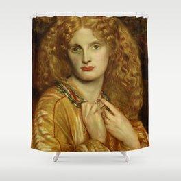 """Dante Gabriel Rossetti """"Helen of Troy"""" Shower Curtain"""