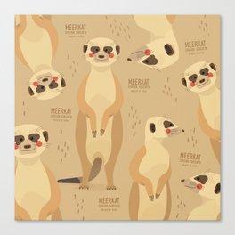 Meerkat, African Wildlife Canvas Print