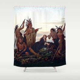 The Abduction of Boone's Daughter by the Indians Shower Curtain